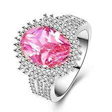 6.8ct 925 Silver Glod Filled Natural Pink Sapphire Size 10 weeding Ring 282