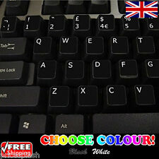 English UK Non-Transparent Keyboard Stickers Computer Laptop PC 2 Colours!