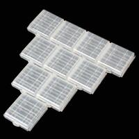 10PCS Portable Hard Plastic Battery Cases Holder Storage Box for AA AAA Battery