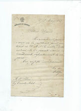 Lettera Autografo Augusto Alfani Filosofo Pedagogia Filosofia 1889 Scrittore