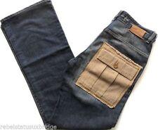 Indigo, Dark wash Bootcut Big & Tall Rise 34L Jeans for Men