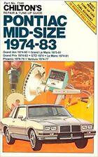 PONTIAC GRAND PRIX 1974 1975 1976 1977 1978 1979 1980 1981 1982 Service Manual