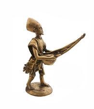 STATUE MUSICIEN EN  LAITON JOUEUR DE KORA ART ET BRONZE AFRICAIN AA795
