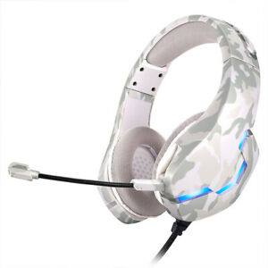 For PS5 PS4 3.5mm Gaming Headset Xbox one Headphone w RGB LED Surround Sound el
