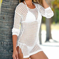 Sexy Women Summer Beach Dress Swimwear Lace Crochet Bikini Cover Up Bathing Suit