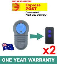 2x Merlin M802 Blue Compatible Garage Door Remote Control Prolift 230T/430R