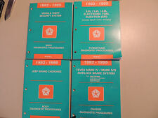 Service manual diagnostic Werkstatthandbuch Jeep Grand Cherokee 1993 1994 1995