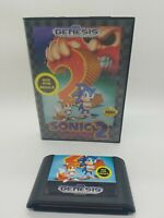 Sonic the Hedgehog 2 (Sega Genesis 1992) ☆ Case & Game Cart ☆ Authentic Tested