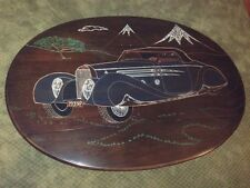 """Bugatti Type 57C by Vanvooren """"Hand Carved"""" Drop leaf Coffee Table"""