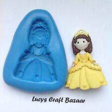 Silicone Mould Princess 2 Fairy tale Sugarcraft Flowerpaste Cupcake Topper Fimo