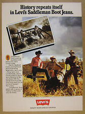 1979 Levi's Saddleman Boot Jeans ranch workers photo vintage print Ad