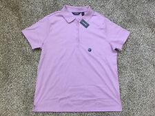 NWT Lands End Women's Pink Amethyst  Soft Pima Polo Shirt Blouse Top Size 1X