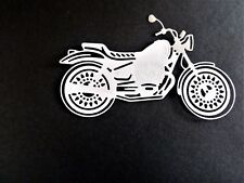 4 x motorbike card toppers, paper craft, die cut, man/lady birthday