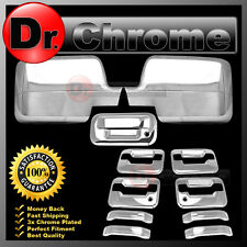 04-08 Ford F150 Chrome Mirror+4 Door Handle+no keypad+keyhole+Tailgate Cover kit