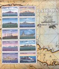 Burkina Faso- 1999 Ships Stamp Sheet of 10