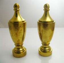2 Heavy Brass Urn Shape Railing Finial Lamp Julius Blum & Co, Inc. Carlstadt, Nj