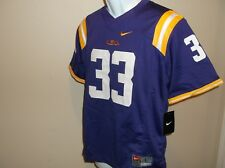 c79013ddd50 LSU Tigers Nike Football Jersey   33 Youth M Purple All Sewn Numbers logos