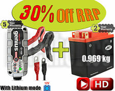 LITHIUM Deal - Battery + charger- YTX14AH-FP +130% CCA 70% less weight