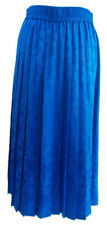 Papell Too Womens Blue Skirt Pleated Silk Floral Print 100% Silk Elegant Size 16