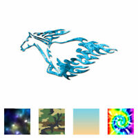 Stallion Horse Flames - Decal Sticker - Multiple Patterns & Sizes - ebn1059