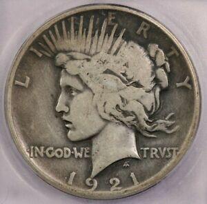 1921-P 1921 Peace Dollar ICG VG8 Peace