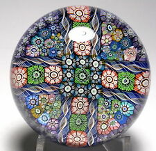 Large Perthshire Uncataloged Smithsonian? Paneled Complex Millefiori Paperweight