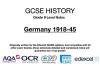 GCSE (9-1) History Notes - Germany 1918-45