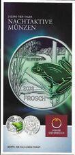 Österreich 3 Euro Frosch 2018 nur Flyer no coin   Eiamaya