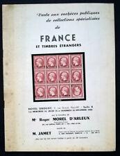 1966 Auction Catalogue FRANCE et Timbres Étrangers