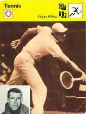 FICHE CARD: Yvon François Marie Petra Indochine France TENNIS 1970s