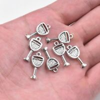 20PC Tibetan Silver Wine Glass Charm Pendant 20*9mm For DIY Bracelet Earrings