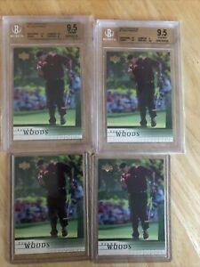 Tiger Woods 2001 Upper Deck BGS 9.5 GEM MINT RC ROOKIE X2 , RAW X2 (psa10?)