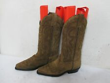Vittorio Ricci Studio Brown Suede Leather Cowboy Western Boots Size 6.5 M