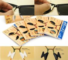 Glasses Eyeglass Sunglass Spectacles Anti-Slip Silicone Stick On Nose Pad Gift