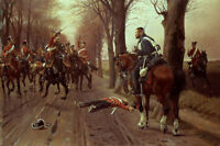 """oil painting on canvas """"  the Danish hero fighting Prussian hussars """"N10582"""