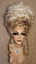 Drag Queen Wig Tall Victorian Beauty Up Do Golden Blonde and Light Blonde Curls