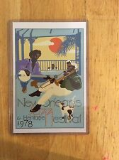 1978 New Orleans Jazz Fest Poster Postcard 4th Charest & Brousseau