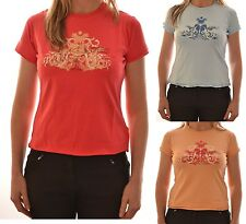 REGATTA LADIES LILLY SHORT SLEEVE CASUAL T SHIRT PINK BLUE APRICOT WS171 C9