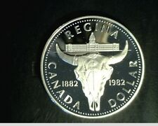 1982 Canada $1,  Regin 100th Anniversary,  High Grade .3750 oz Slv (Can-490)