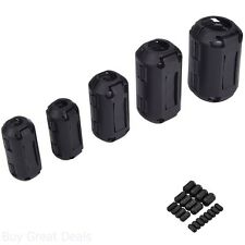Ring Core Ferrite Bead Choke Coil Clamp RFI Cable Clip 20-Pack Snap On 3-13 mm