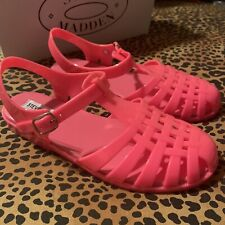 New in Box Steve Madden Cagny Hot Pink Jelly Sandals Women's 7 1990s y2k retro