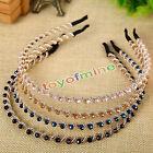 New Women Girl Crystal Rhinestone Jewelry Headband Head Piece Hair Band
