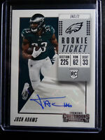 2018 Contenders #200 Josh Adams Eagles Rookie Ticket Auto Autograph Card