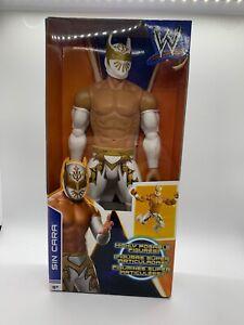 "WWE Sin Cara Figure Mattel 12"" Highly Posable Wrestling White/Gold Attire 2013"