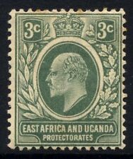 East Africa & Uganda SG 35 Cat £21 3 cents Grey Green Lightly Mounted Mint Reduc