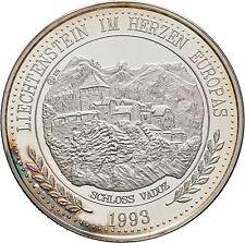 1993 Liechtenstein Large Silver Proof 20 Ecu- Vaduz Castle