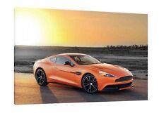 Aston Martin V12 Vantage - 30x20 Inch Canvas - Framed Picture Art Print