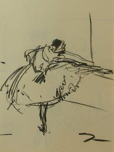 JOSE TRUJILLO - Contemporary SIGNED ORIGINAL CHARCOAL DRAWING Ballerina Ballet