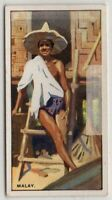 Native South East Asia Malay Man And House c80 Y/O Ad Trade Card