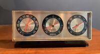 Vintage - Springfield Instrument Company Desktop Thermometer Barometer Humidity
